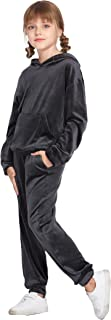 Girls 2 Piece Hoodies Outfits Athletic Sweatpant and...