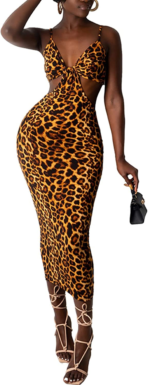 Women Tank Bodycon Maxi Dresses Sleeveless Floral Ethnic African Print Summer Casual Sundress