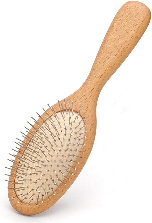 Air bag hair comb solid wood scalp massage comb women curly hair comb antistatic board comb