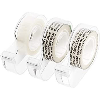 """AmazonBasics Double Sided Tape with Dispenser, 1/2"""" x 7 yds., 3 Pack"""