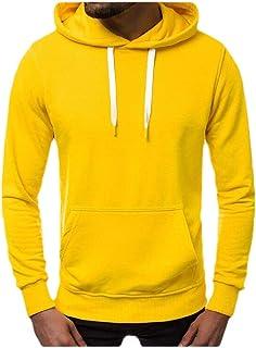 Macondoo Men's Slim Pullover Outdoor Top Hoodie Sports Sweatshirts