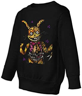 Kmehsv Five Nights at Freddy's Toddler – Jersey de manga larga Little Boys – Sudadera negra