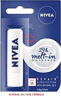 NIVEA Lip Balm, Repair & Protection with SPF15+, 4.8g