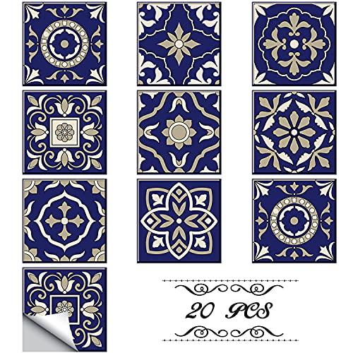 Faffooz Pegatinas Decorativas Autoadhesivas Para Azulejos, Revestimiento De Paredes Impermeable Extraíble Para Muebles, Ducha, Cocina, Baño, Suelo, Decoración Del Hogar (222)