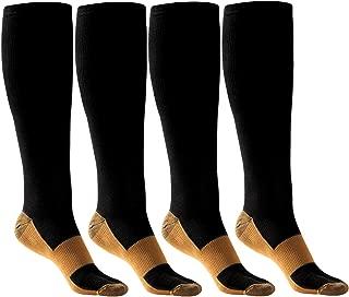 HK Compression Socks Women Men Nursing Multipack Wide Calf Stockings 15-20 mmhg