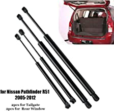 Rear Window Ascensore Supporta Strut Ammortizzatori Fit Nissan Pathfinder R51 2005-2012 L/&U 4 Pezzi portellone Molle a Gas