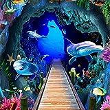 Pared del hotel_3d tema del mundo submarino tridimensional pared del...