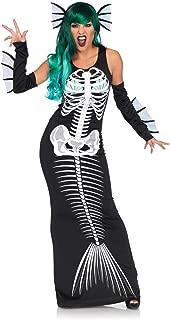 Women's Dark Siren Skeleton Mermaid Costume