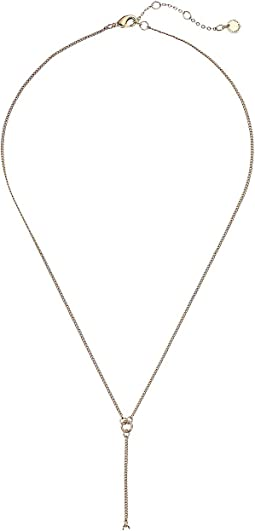 Stone Y-Necklace 18""