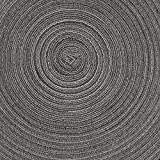 SHACOS Baumwolle Platzsets Set von 6,Tischsets Rund Abwaschbar Verschleißfest Hitzebeständig,geflochtene Platzdeckchen,Ideal für Küche,Dekor,- Dunkelgrau - 7