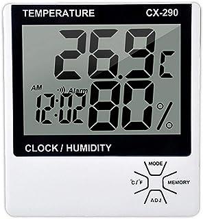 XYXZ Mini Termómetro Higrómetro Digital Multifunción Interior Electrónico LCD Pantalla Digital Temperatura Humedad Función...