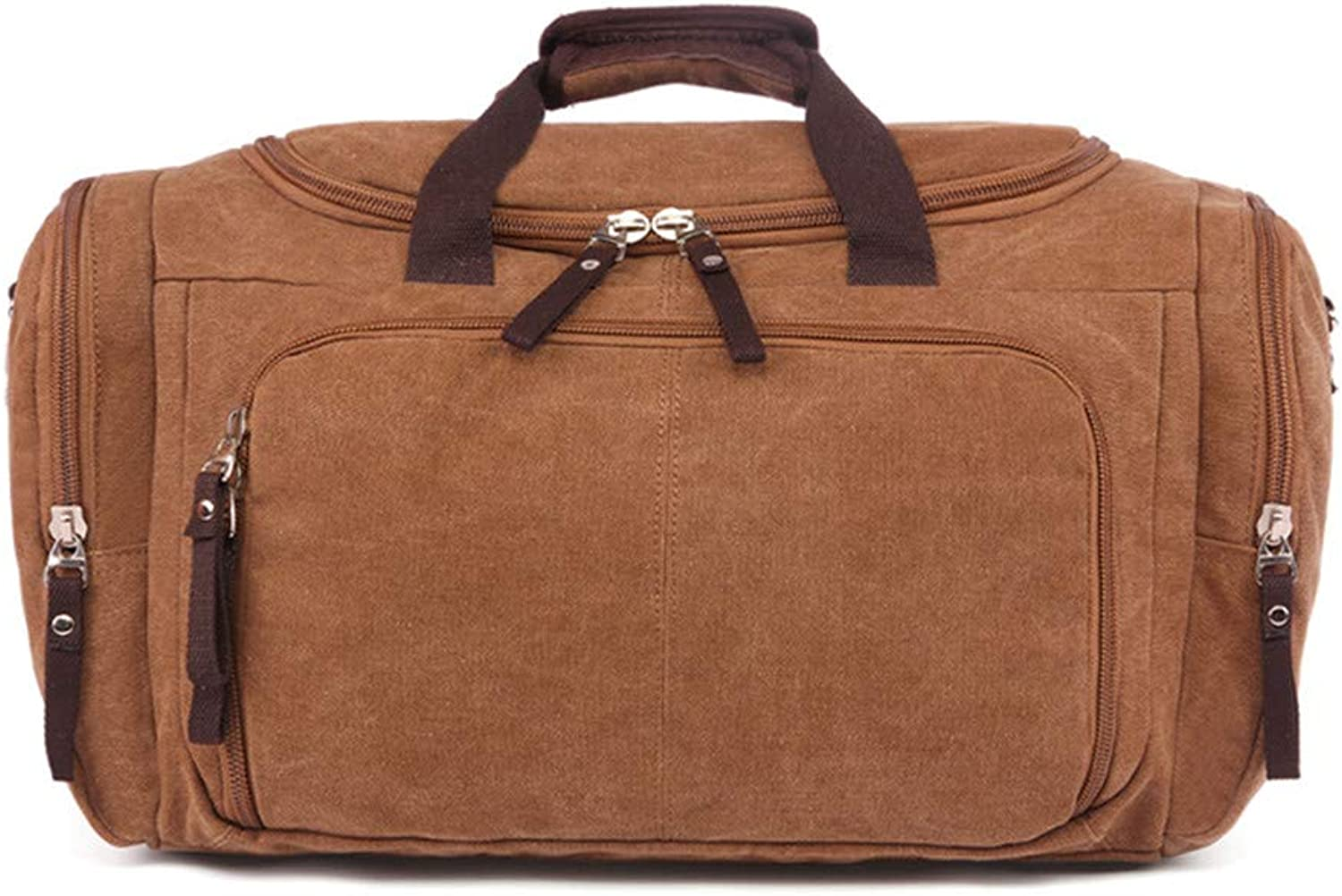 Travel Weekender Shoulder Bags Large Capacity Canvas Portable Weekend Overnight Travel Bag Sports Handbag Shoulder Bags for Men and Women Men's Weekender Duffle Bag (color   Coffee)