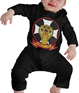 HOUFOUCC 1st Marine Division Marine Light Attack Helicopter Squadron 169 Baby Onesie Organic Long-Sleeve Bodysuit