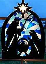 nativity window display