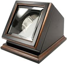 New Automatic Watch Winder Rotater Box Wood Finish 7.25