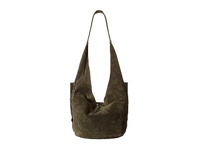 Hammitt Tom (Eucalyptus Suede/Brushed Silver) Handbags