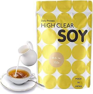 【乳酸菌配合】HIGH CLEAR 国内製造ソイプロテイン ミルクティー風味 750g(約30食分)