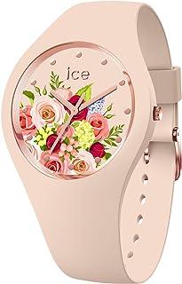 Ice-Watch - Ice Flower Pink Bouquet - Orologio da Donna con Cinturino in Silicone - 017583, Medium, Rosa