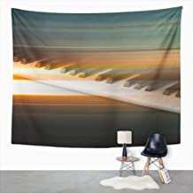 Suklly Tapestry Wall Hanging Painting Blur Music Piano Keys on Gray Sheet Abstract Home Decor Polyester Living Bedroom Dorm 50 X 60 Inches Picnic Mat Beach Towel Bed Cover