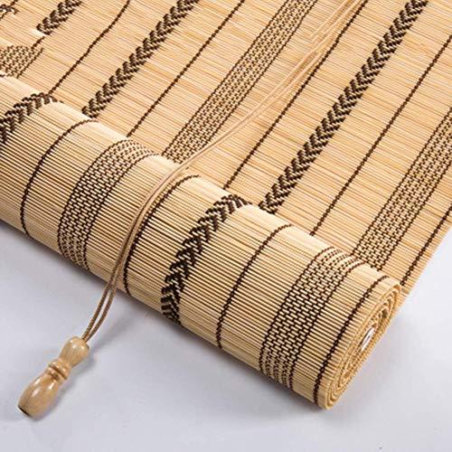 GYC Persianas enrollables de bambú ecológicas para Exteriores, de Verano, para Interiores, persianas enrollables con Filtro de luz y Cenefa, para persianas enrollables de Ventanas