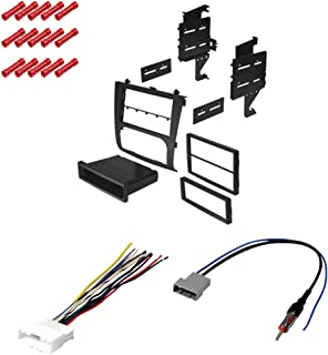 CACHÉ KIT1069 Bundle with Complete Car Stereo Installation Kit Compatible with 2007-2012 Nissan Altima - in Dash Mounting Kit, Harness, Antenna for Single pr Double Din Radio Receivers (4 Item)