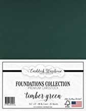Timber Green/Dark Green Cardstock Paper - 8.5 x 11 inch Premium 80 LB. Cover - 25 Sheets from Cardstock Warehouse