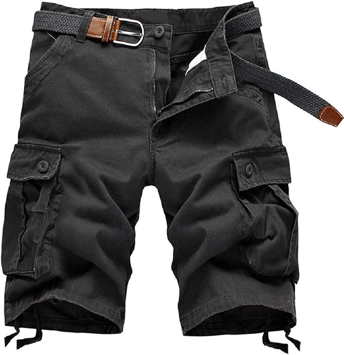 Rsqsjgkert Men's Summer Active Multi-Pocket Wide Leg Outdoor Bermuda Cargo Shorts