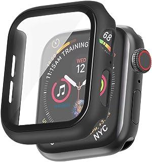 Hankn Apple Watch ケース 40mm Series 6 5 4 / SE 強化ガラス液晶 全面保護 つや消しカバー スクリーンプロテクター PC硬い簿型フレーム脱着簡単耐衝撃落下防止傷防止 iWatch Case アップルウォッ...