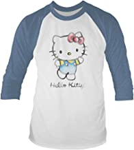 Hello Kitty 'Watercolour' 3/4 Length Sleeve Raglan Baseball Shirt