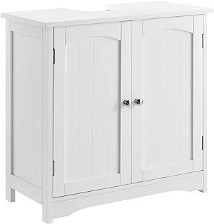 en.casa Mueble para Debajo de Lavabo – 60x60x30cm –