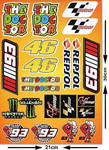 Kit de Pegatinas Moto GP (21 uds.)