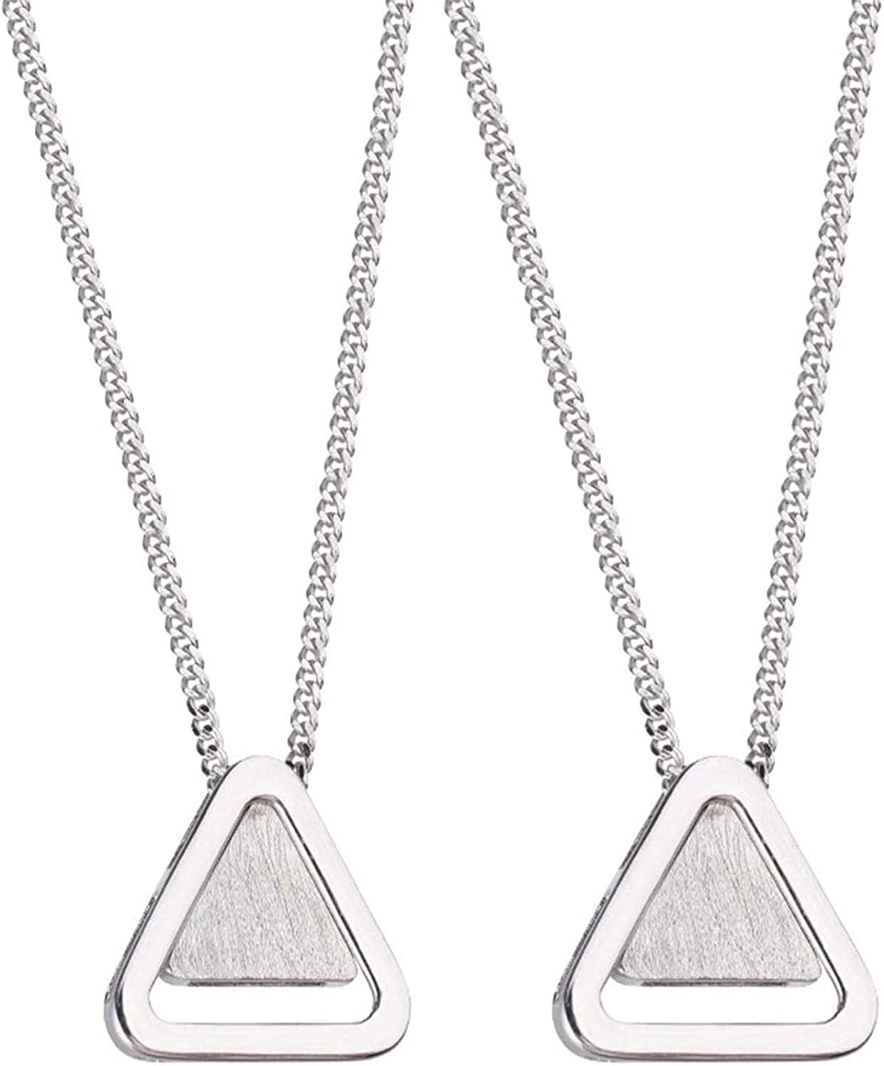 Thank You for Being My Badass Tribe Necklace, Triangles Pendant Simple Chain Neck Chain for Girls Women, Sister Triangle Necklaces for Women 2PCS