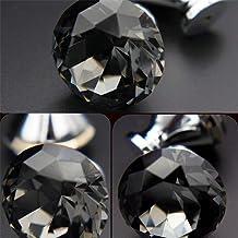 Grepen Transparante Champagne Crystal Geometry Diamond Cutting Glass slingerknop kabinet kaptafel Wardrobe Lade Met schroe...