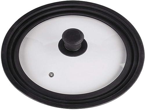 Xavax Couvercle universel (anneau en silicone pour casseroles/poêles de diamètre 24, 26 ou 28 cm, trou de vapeur, des...