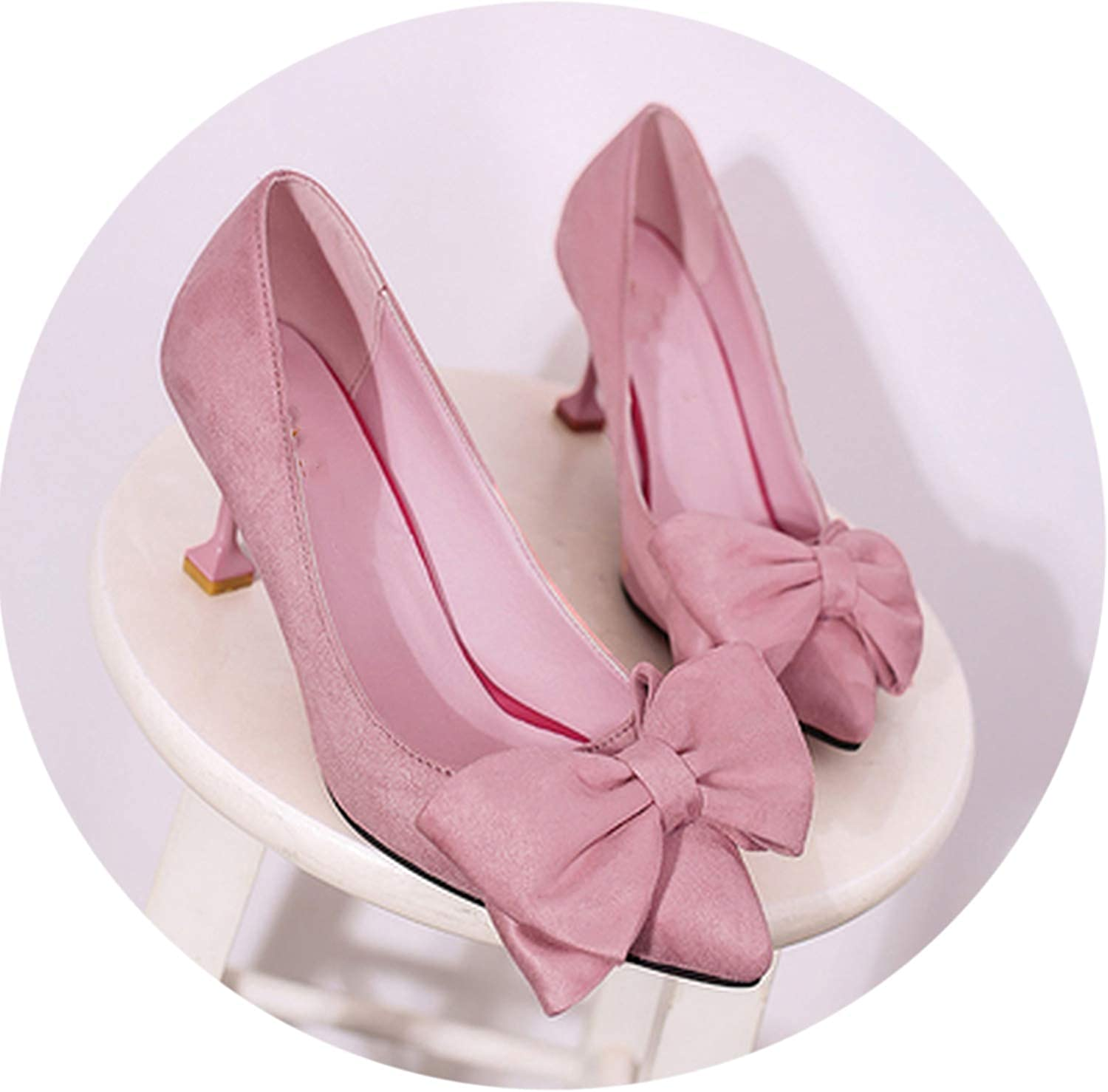 Bow tie high Heel Cute Spring & Summer Slip on shoes Comfy shoes a