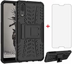 Sponsored Ad - Phone Case for Huawei P20 with Tempered Glass Screen Protector Cover and Stand Kickstand Hard Rugged Hybrid...