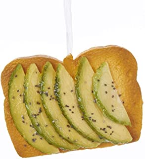 Kurt Adler Green Avocado Toast Ornament