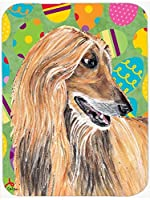 Caroline's Treasures SC9500MP Afghan Hound Easter Eggtravaganza Mouse Pad, Hot Pad or Trivet, Large, Multicolor [並行輸入品]
