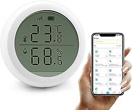 Monitor inalámbrico de temperatura y humedad, termómetro higrómetro digital inalámbrico para interiores, medidor de humedad con sensor de temperatura EWelink se conecta a Zigbee para monitor remoto
