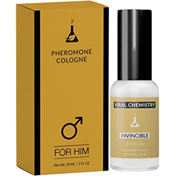 Pheromones to Attract Women for Men (Invincible) - Exclusive, Ultra Strength Organic Fragrance Body Cologne Spray - 1 Fl Oz (Human Grade Pheromones to Attract Women)
