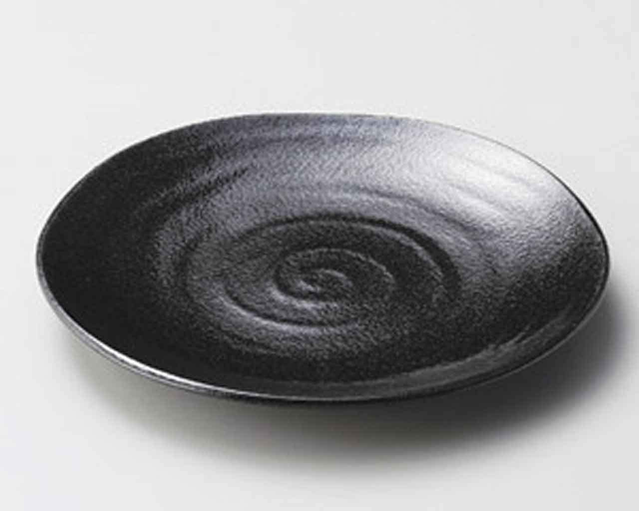 Voltex 9.8inch Set of Online limited product 5 SUSHI Jap PLATES porcelain in Made Black New product type