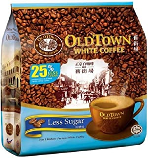 Malaysia Old Town White Coffee / 3 In 1 Less Sugar/Authentic Coffee/Deliciously Tasty & Alluring, Minus The Sugar / 15s x 35g