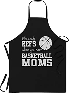 WishState Basketball Player Apron Kitchen Aprons - Who Needs Refs Funny Basketball Mom Mothers Day Sports - One Size fits ...