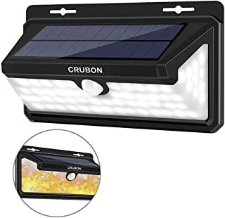CRUBON Solar Lights Outdoor Motion Sensor 3 Optional Modes 158 LED Wireless Waterproof Security Wall Light with 270° Wide Angle, Easy to Install Lamps for Front Door, Yard, Garage, Deck (1Pack)