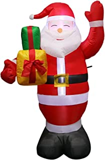 OurWarm 5Foot Christmas Yard Inflatable Santa Claus with Gift Boxes for Christmas Blow Up Yard Decorations, LED Light Up Indoor Outdoor Christmas Decorations