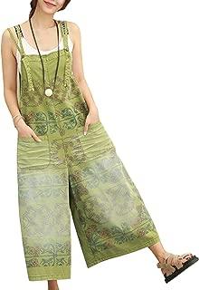 P91 Women Strap Rompers Jumpsuits Denim Casual Bib Pants Embroidery Distressed Boyfriend Wide Leg