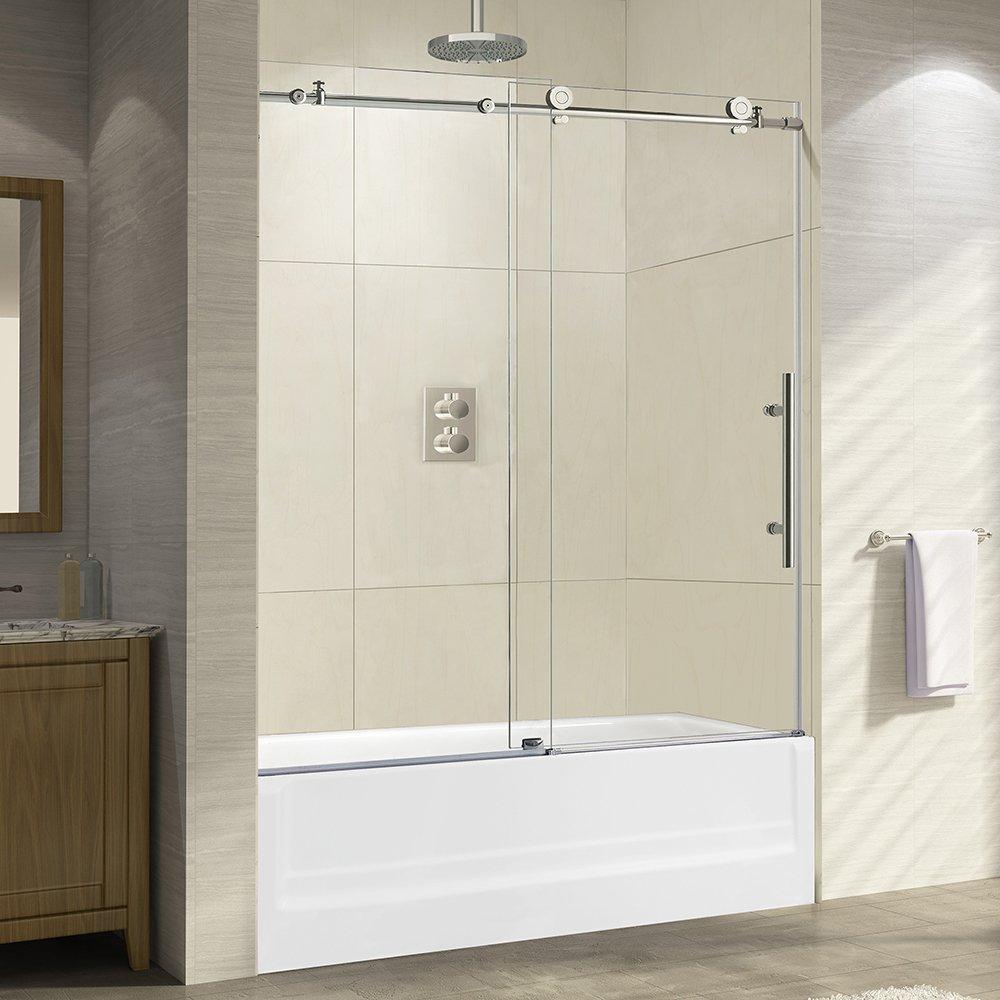 bathroom glass doors amazon com rh amazon com bathroom glass separator price