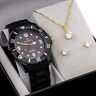 Relógio Feminino Nowa Com kit Colar e Brinco
