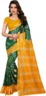 daindiashop-USA Indian Women Saree Bandhani Sari Special Occasion Navratri Diwali Outfit
