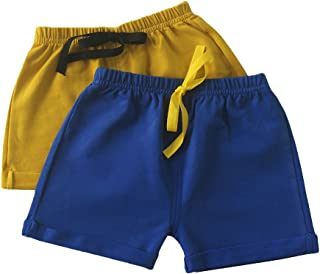 Toddler Boys and Girls Cotton Shorts,2 Pack Shorts for Kids 12M - 5 Years